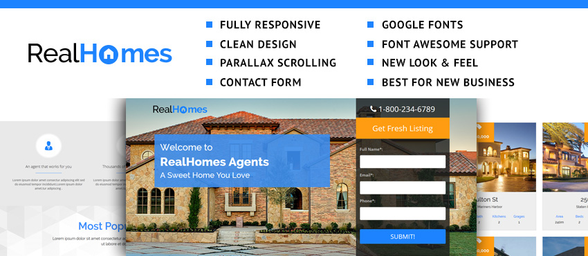 Dream Home   Best Landing Page Template for Real Estate