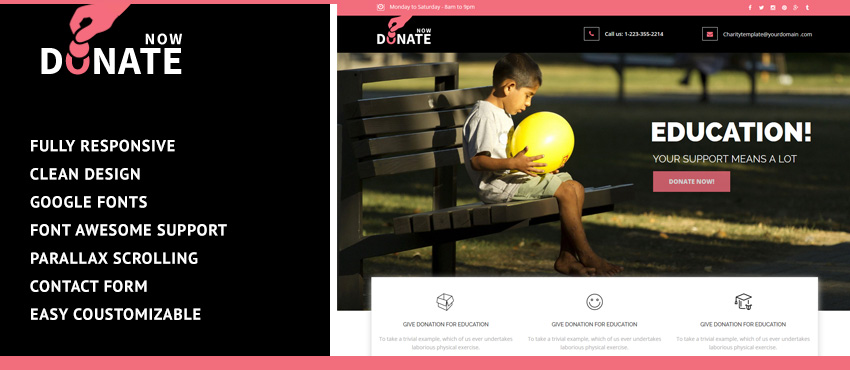 Help People | Landing page Template for Donation Industry